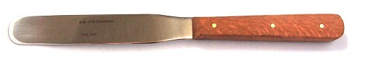 "#200-207 - 4"" blade #19 spatula, Rose Wood $4.50"